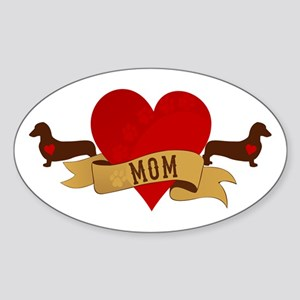 Dachshund [Doxie] Mom Sticker (Oval)